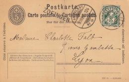 Cachet Ambulant N°20 Zofingen Pour La France - 1882-1906 Armarios, Helvetia De Pie & UPU