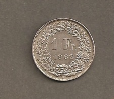 1 FRANCO SVIZZERO 1962 - ARGENTO # BB - Svizzera