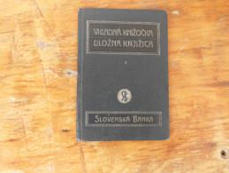Vkladna Knizocka Ulozna Knjizica Slovenska Banka 1940  Filijala Novi Sad - Documenti Storici