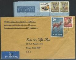Malawi 1971  Antelopes/ Bird On 2 Covers - Malawi (1964-...)