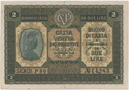2 Lira / DA DUE LIRE 2 GENNAIO - Italy - Year 1918 - Buoni Di Cassa