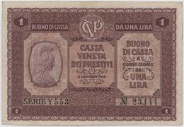 1 Lira / DA UNA LIRA 2 GENNAIO - Italy - Year 1918 - Buoni Di Cassa
