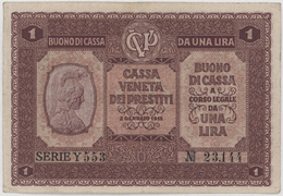 1 Lira / DA UNA LIRA 2 GENNAIO - Italy - Year 1918 - [ 5] Schatzamt