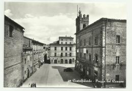 CASTELFIDARDO PIAZZA DEL COMUNE  AFFRANCATA NON VIAGGIATA  FG - Ancona