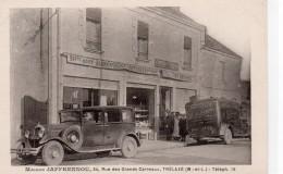 Trélazé.. Animée Maison Jaffrennou Alimentation Générale épicerie Devanture Vitrine Café Voiture Ancienne - Otros Municipios