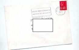 Lettre Flamme Saint Etienne Armee Bien Commun - Oblitérations Mécaniques (flammes)