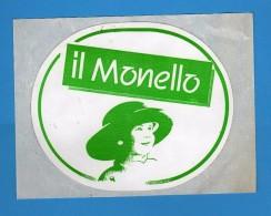 Adesivo Pubblicitario -  Il MONELLO  .  Cm 12 X 10  .    Vedi Descrizione - Adesivi