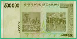 500 000 Dollars - Zimbabwe - N° AA 5925907 - 2008 - Sup - - Zimbabwe