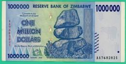1 000 000 Dollars - Zimbabwe - N° AA 7682821 - 2008 - Sup - - Zimbabwe