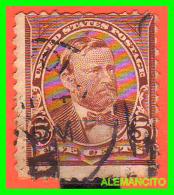 ESTADOS UNIDOS - UNITED STATES- ( AMERICA ) ULYSSES  S  GRANT  SELLO - FIVE  CENTS .CHOCOLATE .AÑO 1890 - América Central
