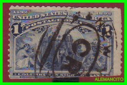 ESTADOS UNIDOS - UNITED STATES- ( AMERICA ) CRISTOBAL COLON  SELLO - ONE  CENT .AÑO 1892 - América Central
