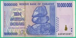 10 000 000 Dollars - Zimbabwe - N° AA 0492347 - 2008 - Sup - - Zimbabwe