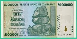 50 000 000 Dollars - Zimbabwe - N° AA 0492347 - 2008 - Sup - - Zimbabwe