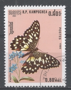Cambodia 1986, Scott #693 Butterfly: Papilio Demoleus (U) - Kampuchea