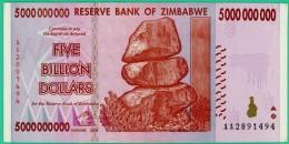 5 000 000 000 Dollars - Zimbabwe - N° AA 2891494 - 2008 - Sup - - Zimbabwe