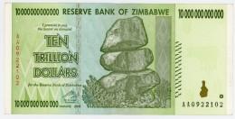 10 000 000 000 Dollars - Zimbabwe - N° AA 0922102- 2008 - Sup - - Zimbabwe