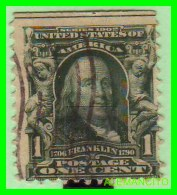 ESTADOS UNIDOS - UNITED STATES- ( AMERICA ) FRANKLIN  - SELLO  -  ONE CENT ... AÑO 1902 - América Central