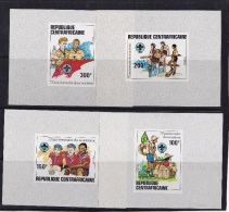 Central Africa (Sc# 497-500) MNH  (Set Of 4 Delux Souvenir Of Sheets)  75th Anniversary Of Boy Scouting   (1982) - Central African Republic