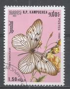 Cambodia 1986, Scott #695 Butterfly: Idea Blanchardi (U) - Kampuchea