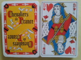 LES CHEVALIERS DE FRANCE (collections Vins). Jeu De 32 Cartes. Usagé Sans étui - 32 Cartes