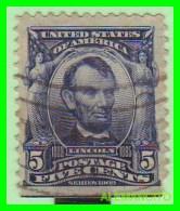 ESTADOS UNIDOS - UNITED STATES- ( AMERICA ) LINCOLN   SELLO - FIVE  CENTS . .AÑO 1902 - América Central