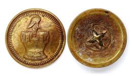 Bouton Génie Militaire, Troupes (1862-1914) Bronze. 23 Mm - Boutons