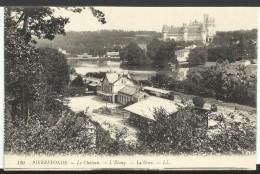 FRANCE - Pierrefonds: Le Château - L´étang - La Gare - Gares - Sans Trains