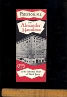 PATERSON NEW JERSEY Alexander Hamilton Knott Hotel  Advertising Folder - Dépliants Turistici