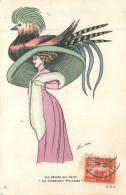 ILLUSTRATEUR SAGER  La Mode En 1910  Le Chapeau Pintade   2 Scans - Sager, Xavier