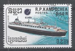 Kampuchea 1988, Scott #861 Ship: Passenger Liner (U) - Kampuchea