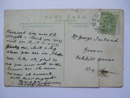 GB EDWARD VII 1905 POSTCARD WITH RARE LESLIE RSO FIFESHIRE POSTMARK - Lettres & Documents