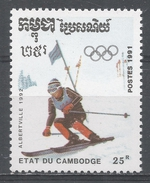 Cambodia 1991, Scott #1127 Winter Olympic Games, Albertville: Slalom Skiing (MNH) - Cambodge