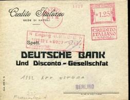11012 Italia,  Red Meter/freistempel/EMA/affrancatrice Rossa/ 1932 Napoli  Craedito Italiano  ,  Circuled Cover - Affrancature Meccaniche Rosse (EMA)