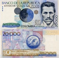 COLOMBIA        20,000 Pesos        P-454       23.8.2012       UNC  [ 20000 ] - Colombie