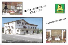 LA BALME SUR CERDON AIN HOTEL RESTAURANT CARRIER PUBLICITE - Autres Communes