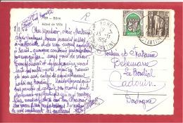 Y &T N°259+288  BONE   Vers  FRANCE   1954  VOIR 2 SCANS - Covers & Documents