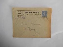 VITRY-LA-VILLE DEBEURY GRAINS ENVELOPPE DE MAI 1930 - France