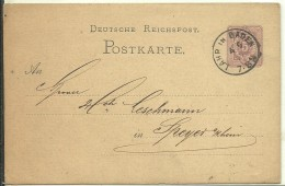 STATIONERY  1877 LAHR IN BADEN - Germany