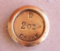 Mesure, Pesage - Poids Anglais, En Laiton De 2 Oz. Poinçonné.  Inscription Vr 65 - Crane. - Art Populaire