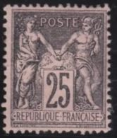 France   .      Yvert    .    97          .            *       .       Neuf    .   /   .   Mint-hinged - 1876-1898 Sage (Type II)
