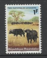 TIMBRE NEUF DU RWANDA - BUFFLES (PARC NATIONAL DE LA KAGERA) N° Y&T 102 - Briefmarken