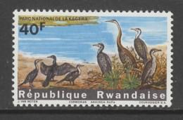 TIMBRE NEUF DU RWANDA - CORMORANS ET ANHINGAS RUFA (PARC NATIONAL DE LA KAGERA) N° Y&T 106 - Oiseaux