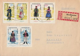 DDR R-Brief Mif Minr.W Zd144,W Zd146,W Zd 148 Nordhausen 28.11.64 - DDR