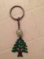 Key Holder Lebanon Souvenir Cedar Metal Key Chain , Liban Porte Cle - Key-rings