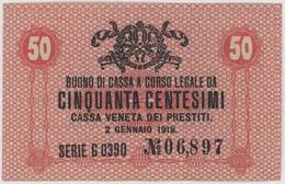 50 Centesimi - CASSA VENETA DEI PRESTITI - Year 1918 - [ 5] Trésor