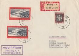 DDR R-Brief Mif Minr.805A, 805B, 612 Leipzig 26.1.61 - Briefe U. Dokumente