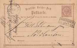 DR Ganzsache R2 Greusssen 13.12. Gel. Nach Nordhausen - Briefe U. Dokumente