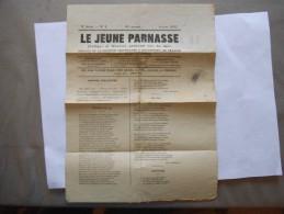 LE JEUNE PARNASSE POETIQUE & MUSICAL N° 1 JANVIER 1883 - Poésie