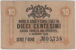 10 Centesimi - CASSA VENETA DEI PRESTITI - Year 1918 - Buoni Di Cassa