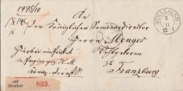 Paketbegleitschein Stralsund 3.11. Nach Franzburg - ...-1849 Vorphilatelie
